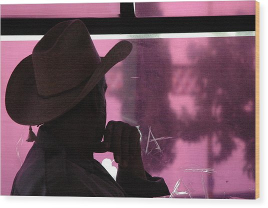 Purple View  Wood Print by Fabio Lorenzano