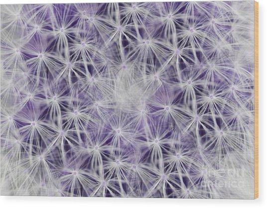 Purple Wishes Wood Print