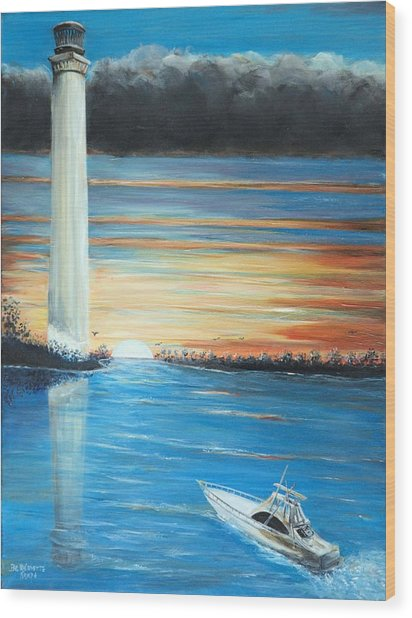 Put-in-bay Perry's Monument - International Peace Memorial  Wood Print