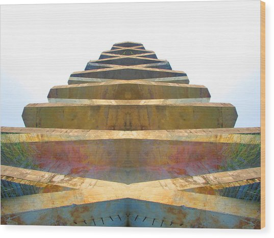 Pyramid Wood Print by Michele Caporaso