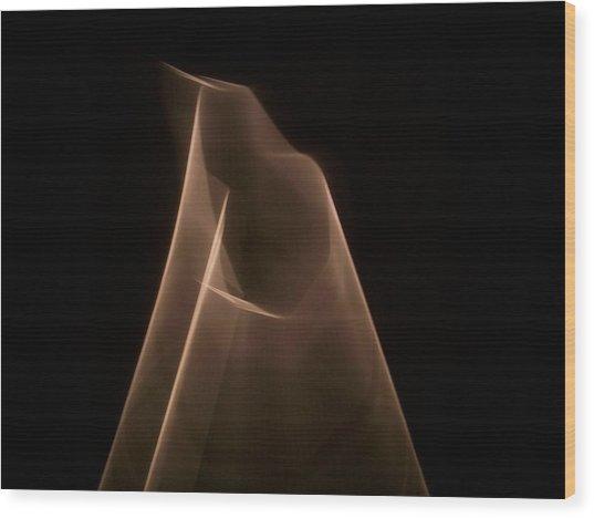 Pyramid Of Light Wood Print by Ezequiel Rodriguez Baudo