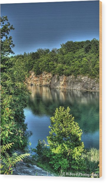 Quarry Of Reflections 2 Wood Print by Heather  Boyd