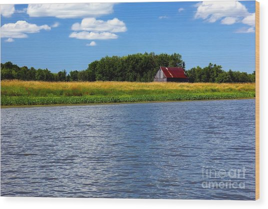 Quebec Countryside Wood Print by Sophie Vigneault