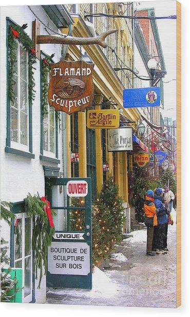 Quebec's Old City 2 Wood Print