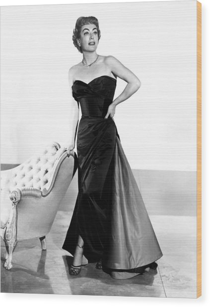 Queen Bee, Joan Crawford, In A Gown Wood Print by Everett