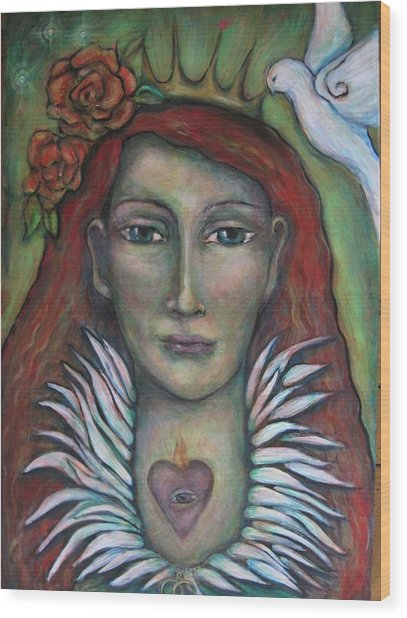 Queen Of My Own Heart Wood Print by Shoshanna Lightsmith