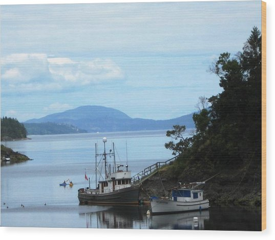 Quiet Harbor Wood Print