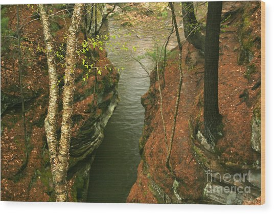 Quiet Rocky Gorge Wood Print