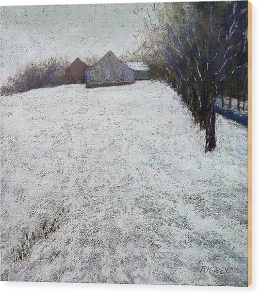 Quiet Winter Day In Bucks County Wood Print by Bob Richey