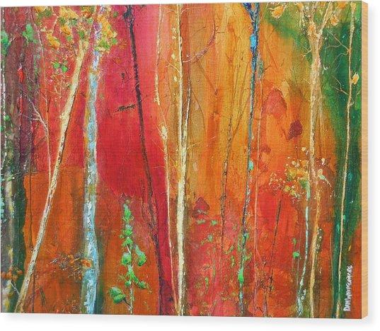 Quinacridone Hollow  Wood Print