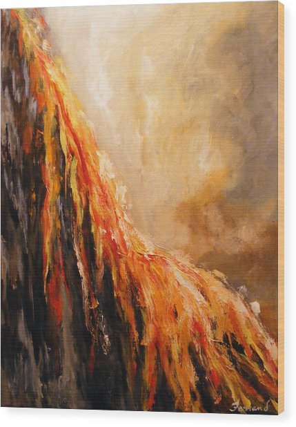 Quite Eruption Wood Print