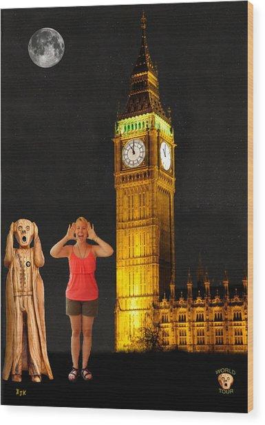 Rachel Hoovler Screams Big Ben Wood Print by Eric Kempson
