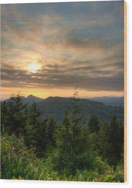 Radar Hill Sunset - Tofino Bc Canada Wood Print by Matt Dobson