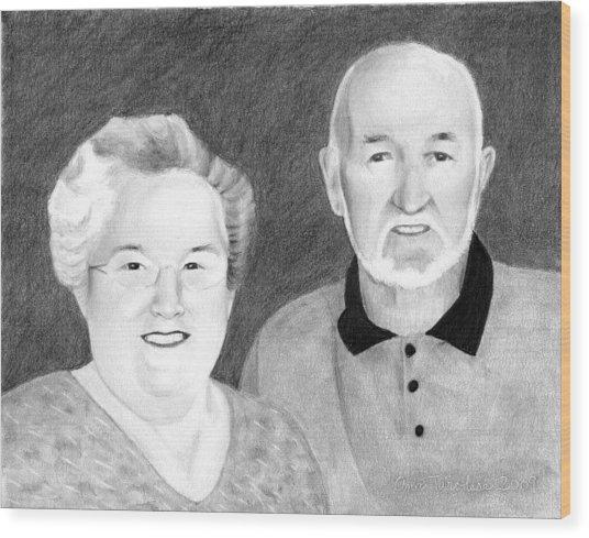 Raeleen And Jim Campbell Wood Print