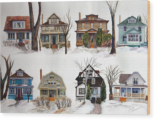 Wood Print featuring the painting Raglan Road - Early Spring by Ruth Kamenev