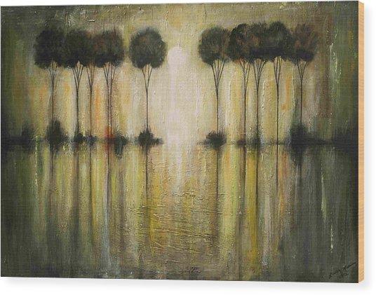 Rain Wood Print
