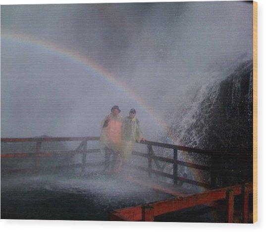 Rainbow Crazy Wood Print by Matthew Slowik