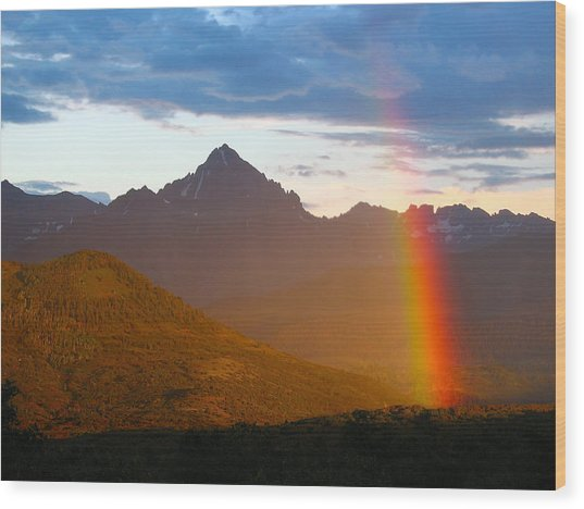 Rainbow Mountain Wood Print