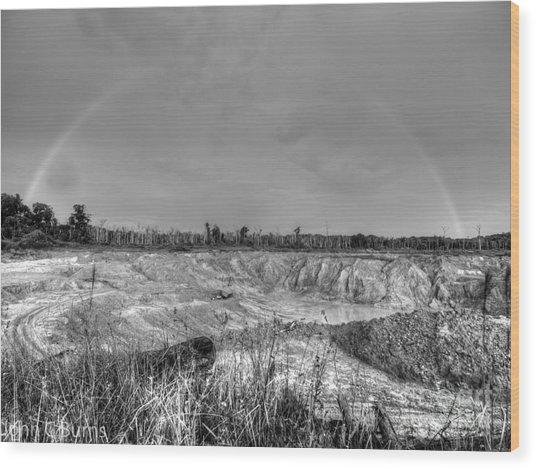 Rainbow Pit Wood Print