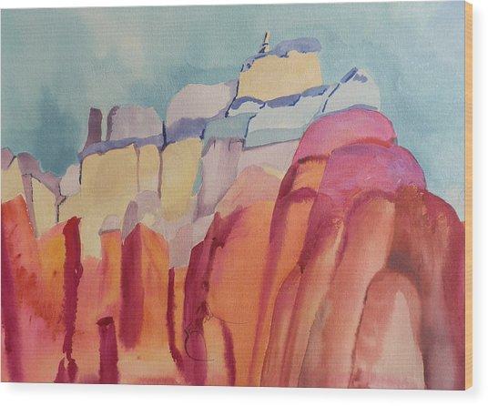 Rainbow Rocks Wood Print