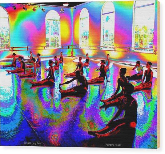 Rainbow Room Wood Print