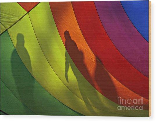 Rainbow Shadows Wood Print