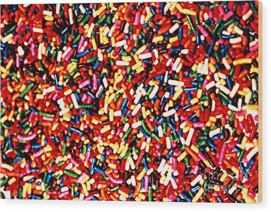 Rainbow Sprinkles Wood Print