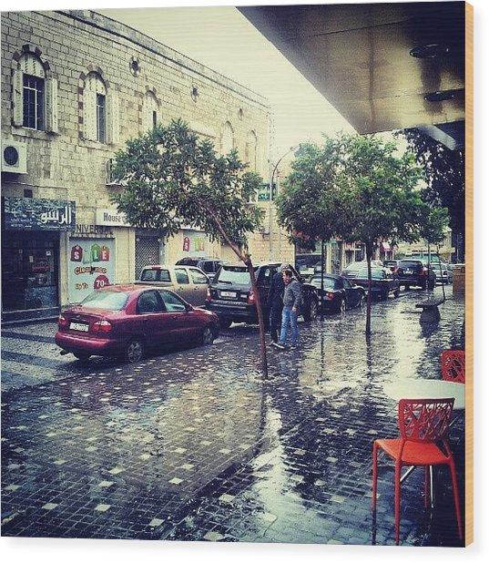 Rainbow Street #amman #jo #jordan Wood Print