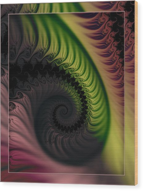 Rainbow Swirl Wood Print