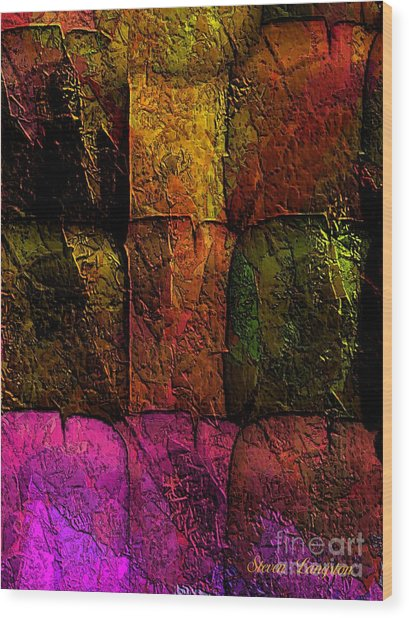 Rainbows And Stone 2 Wood Print