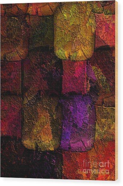 Rainbows And Stones Wood Print