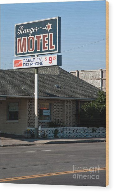 Ranger Motel Wood Print