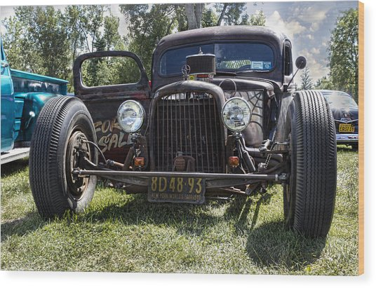 Rat Rod Wood Print by Peter Chilelli