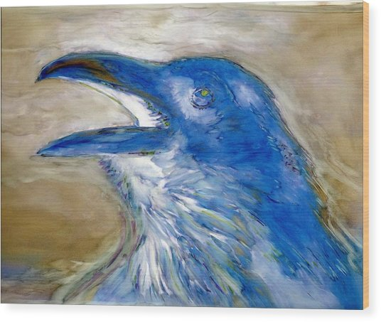 Raven Blues Wood Print