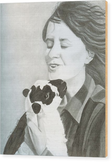 Raven O'keefe And Minnie Wood Print