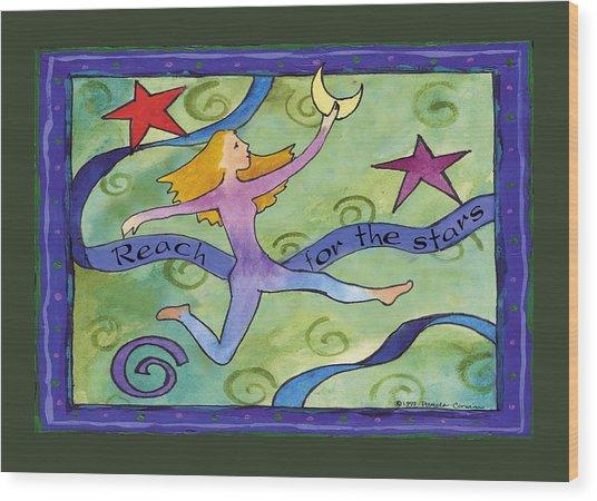Reach For The Stars Wood Print by Pamela  Corwin