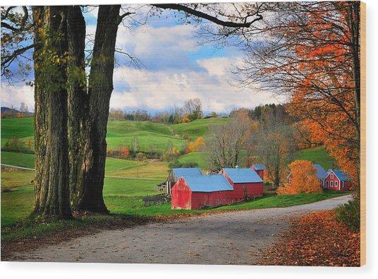 Reading Vermont - Jenne Road Wood Print