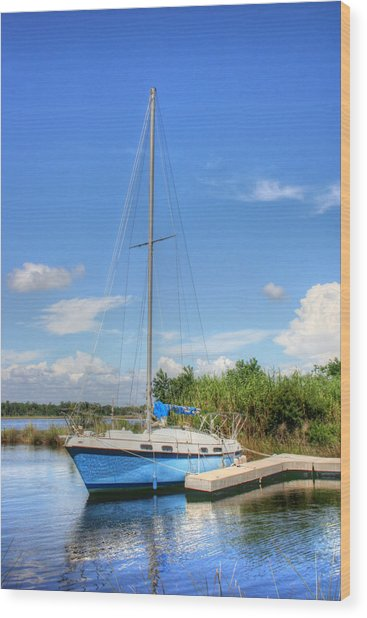 Ready To Sail Wood Print by Barry Jones
