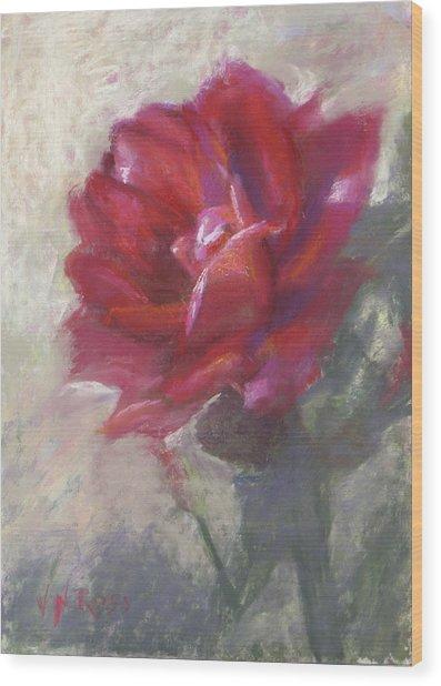 Reba's Rose Wood Print