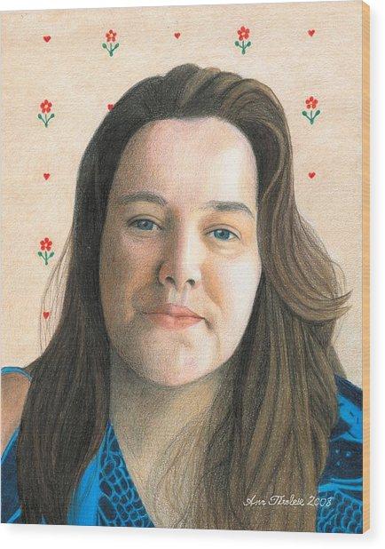 Rebecca - Puso Coracao Wood Print