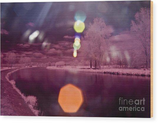 Recurring Light Wood Print