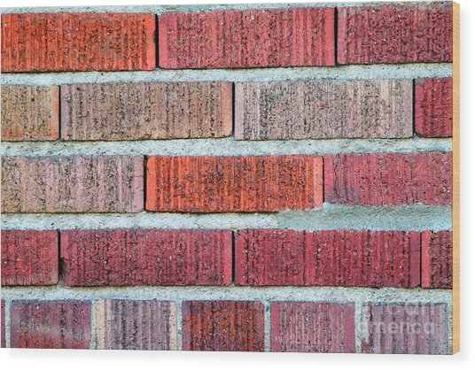 Red Brick Wall Wood Print