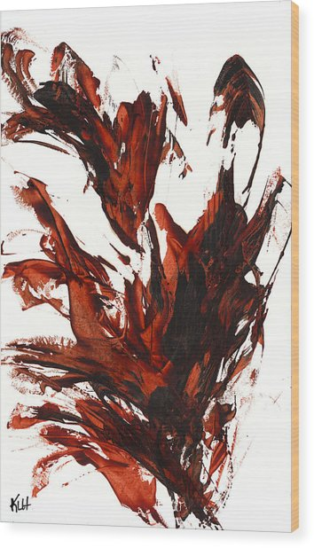 Red Flame IIi 64.121410 Wood Print