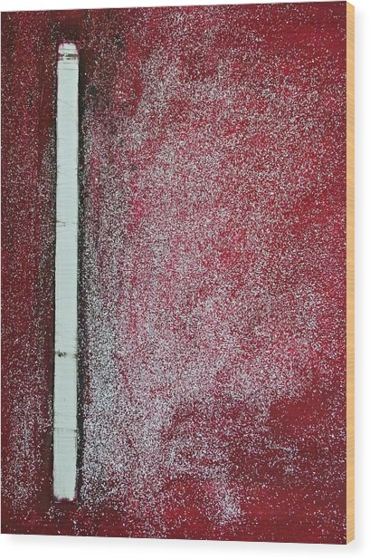 Red Galaxy - Abstract Wood Print