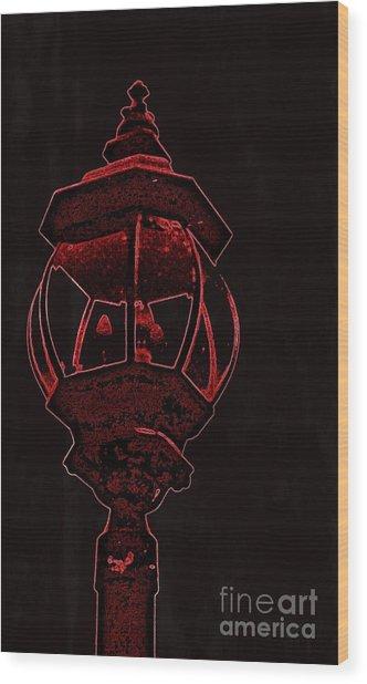 Red Light District Wood Print by EGiclee Digital Prints