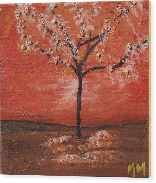 Red Wood Print by Megan Miller