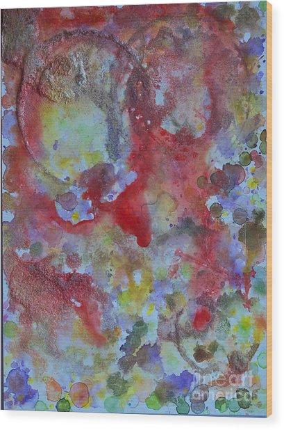 Red Ovals Wood Print by Bill Davis