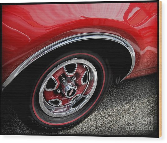 Red Power Of 442 Oldsmobile Wood Print