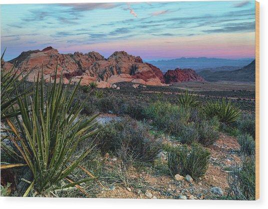 Red Rock Sunset II Wood Print