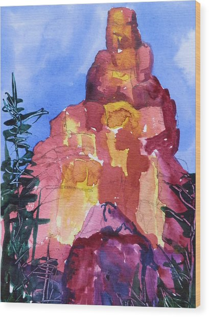 Red Rocks Wood Print